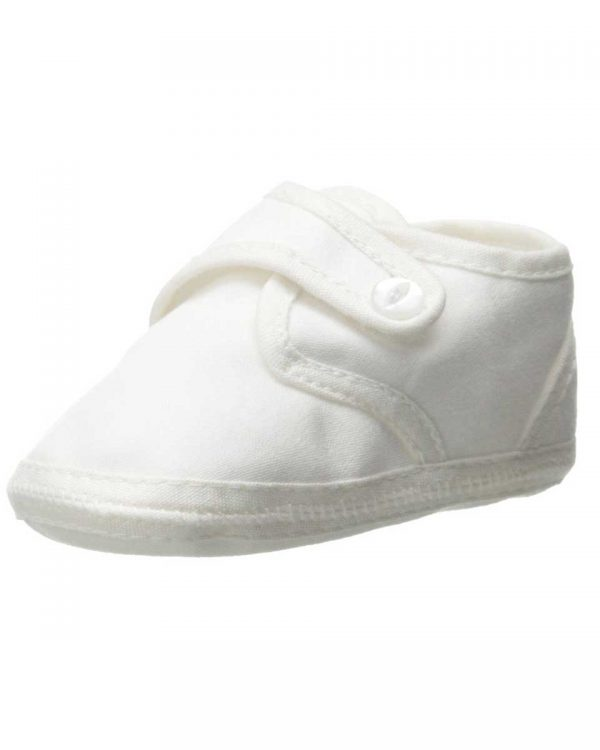 Boys Cotton Shoe with Button Closure - Little Things Mean a Lot