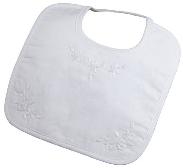 Girls Hand Embroidered Cotton Bib