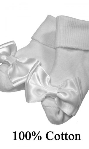 Girls Cotton Special Occasion Socks with Bow - Little Things Mean a Lot