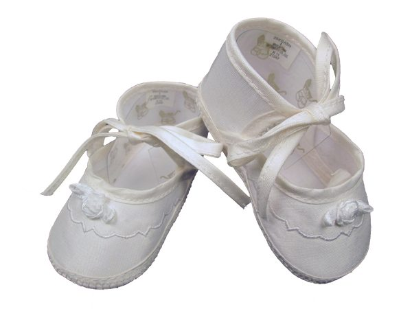 Girls Silk Dupioni Shoes with Ribbon Rosette - Little Things Mean a Lot