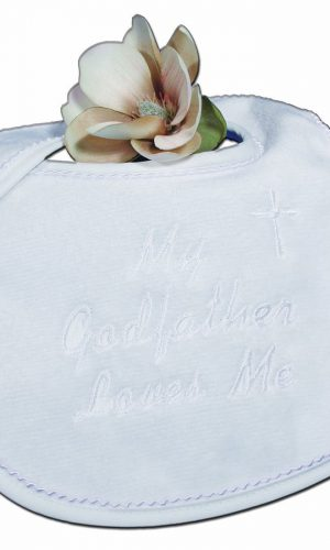 My Godfather Loves Me Bib - Little Things Mean a Lot