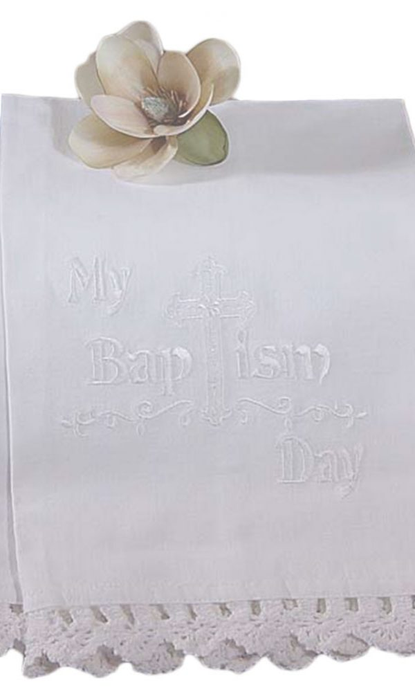$15.00 Select options · 100% White Cotton Christening Towel Baptism Towel with Lace