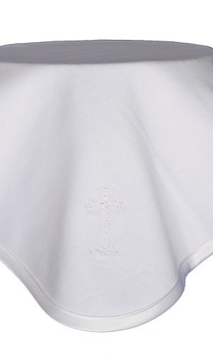 Christening Blanket with Embroidered Cross - Little Things Mean a Lot