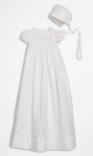 """Girls 34"""" Cotton Dress Christening Gown Baptism Gown with Hand Embroidery - Little Things Mean a Lot"""
