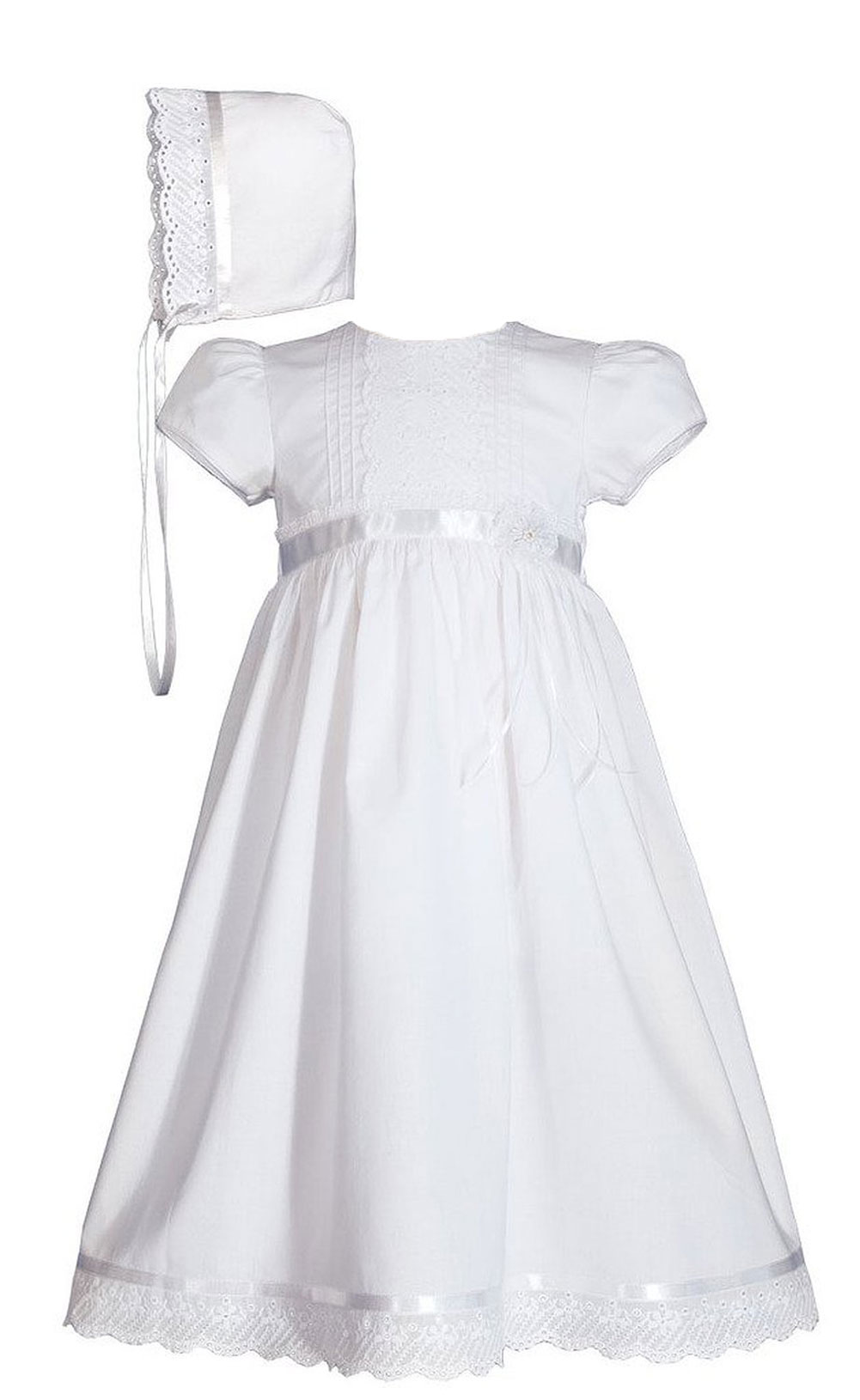 Girls 24 Quot Cotton Dress Christening Gown Baptism Gown With