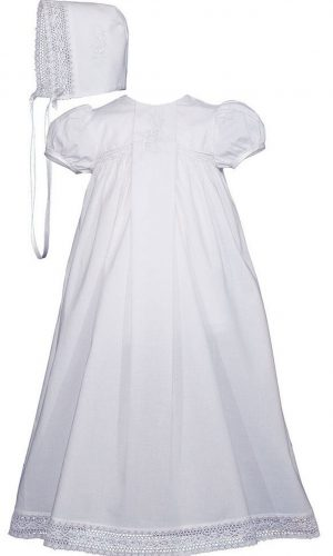 """Girls 25"""" Victorian Style Cotton Christening Baptism Gown - Little Things Mean a Lot"""