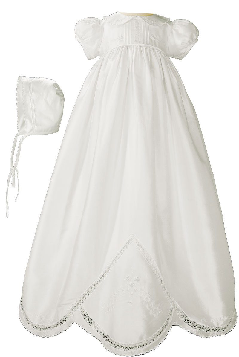 Baby Gown White Baby Gown With Slip Long Baptismal Gown Christening Gown Elegant Baptismal Gown Baptismal Gown White Baptism Gown