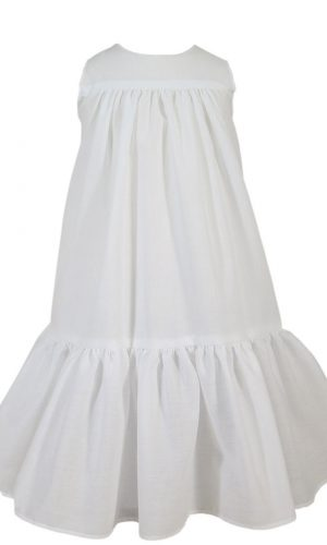 "Girls 20"" Polycotton Christening Slip with Ruffle"