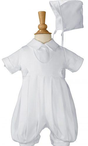 Boys White Gabardine Christening Baptism Knicker Set - Little Things Mean a Lot