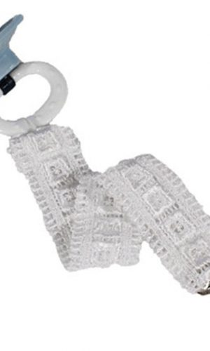 Unisex Universal Elegant and Fancy Pacifier Clip - Block Lace