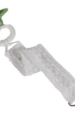 Unisex Universal Elegant and Fancy Pacifier Clip - Lattice Lace