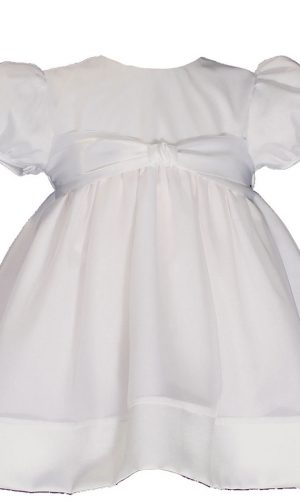 Girls Cotton Day-length Organza Dress Christening Gown Baptism Gown with Satin Hem - Little Things Mean a Lot