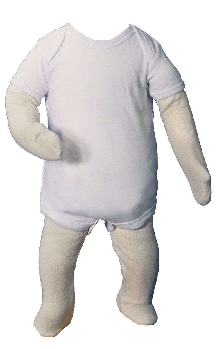 Unisex Cotton Knit Christening Onesie Coverall