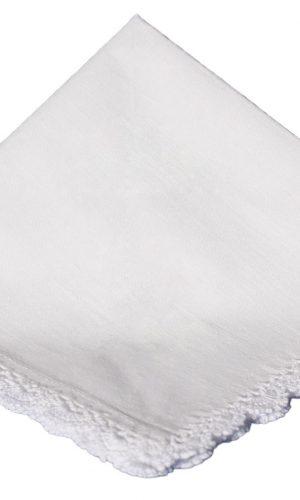 Cotton Christening Hankie Handkerchief Heirloom - Little Things Mean a Lot