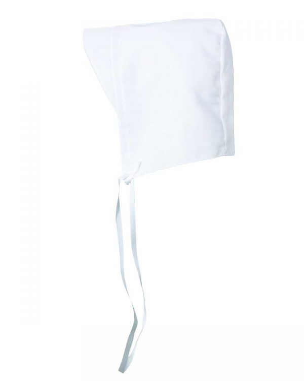Boys Simple White Poly Rayon Christening Baptism Hat with Brim - Little Things Mean a Lot