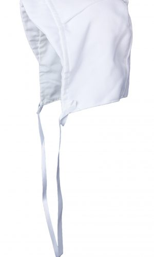 Boys Simple White Poly Rayon Christening Baptism Hat with Wide Top Flap - Little Things Mean a Lot