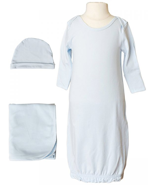 Boys Three-Piece Bamboo Layette Set in Blue or White - Little Things Mean a Lot