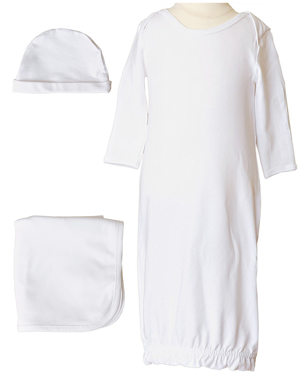 b5a122f59 Boys Three-Piece Bamboo Layette Set in Blue or White - Little Things ...