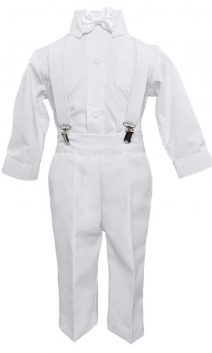 Cooper Suspender Christening Outfit - Little Things Mean a Lot