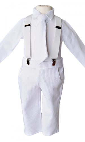 Payton Suspender Christening Outfit - Little Things Mean a Lot