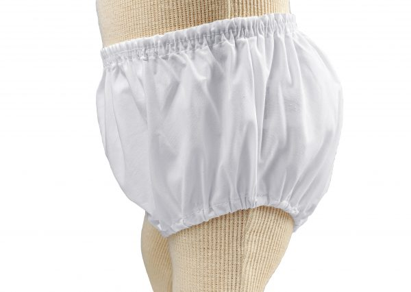 Baby Girls White Elastic Bloomer Diaper Cover - Little Things Mean a Lot