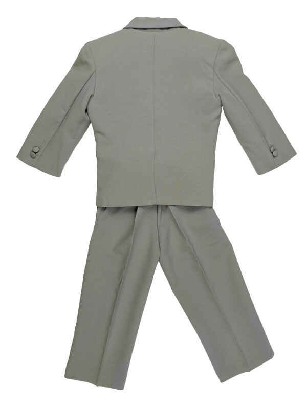 Boys Formal 5 Piece Suit with Shirt and Vest - Silver White - Little Things Mean a Lot
