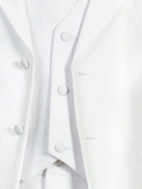Boys Formal 5 Piece Suit with Shirt and Vest - White - Little Things Mean a Lot