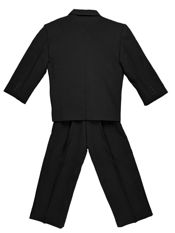 Boys Formal 5 Piece Suit with Shirt, Vest, Tie and Garment Bag - Black - Little Things Mean a Lot