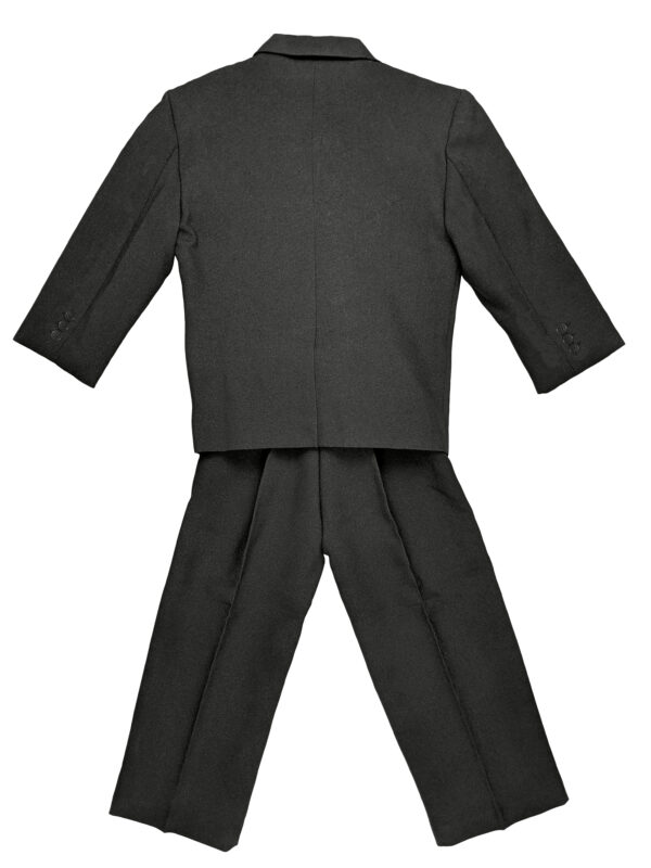 Boys Formal 5 Piece Suit with Shirt, Vest, Tie and Garment Bag - Charcoal - Little Things Mean a Lot