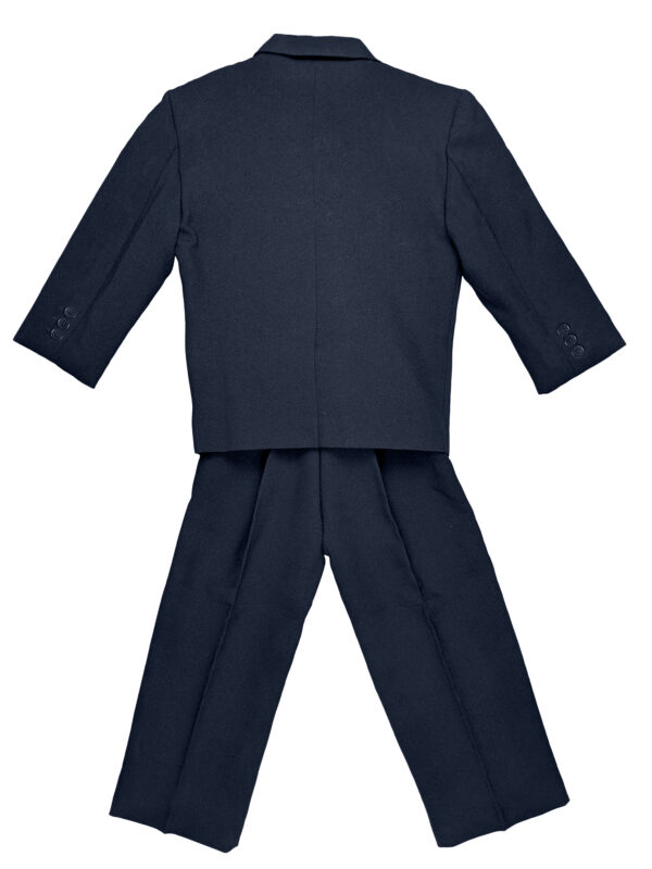 Boys Formal 5 Piece Suit with Shirt, Vest, Tie and Garment Bag - Navy - Little Things Mean a Lot