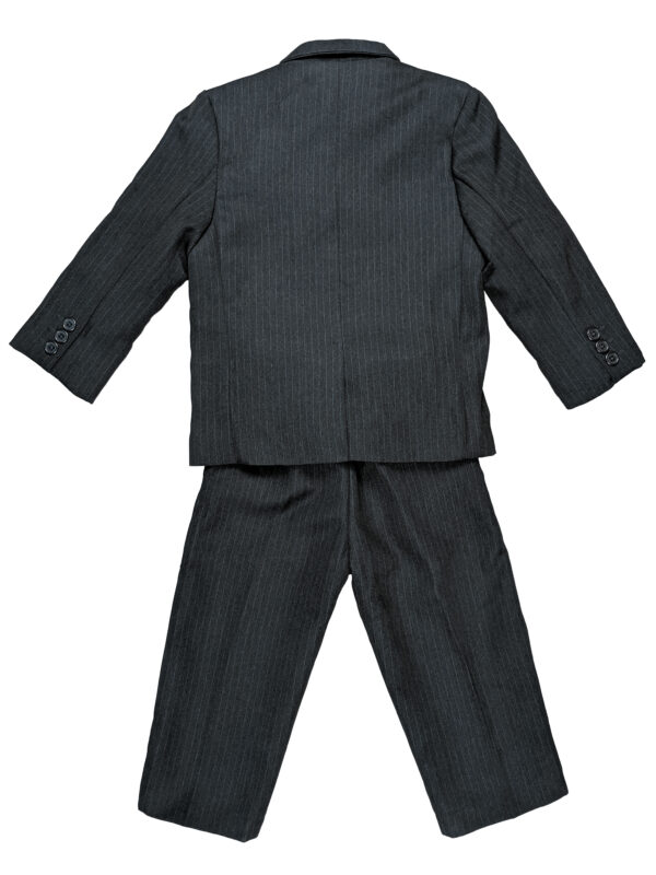 Boys Pinstripe Suit Set with Matching Tie - Navy - Little Things Mean a Lot