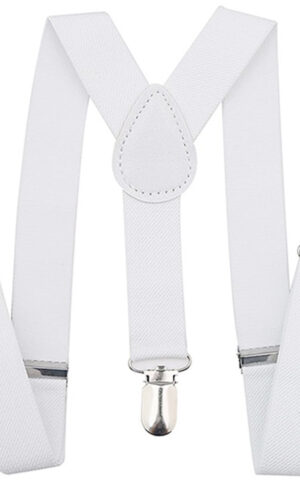 White Suspenders with Metal Clasps - Little Things Mean a Lot